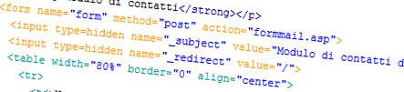 Come creare un form di contatti ASP