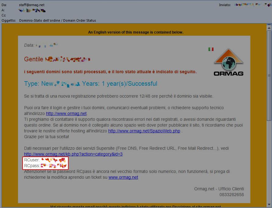 Utilizzo e configurazione dell'URL redirect gratuito attraverso ormag.myorderbox.com