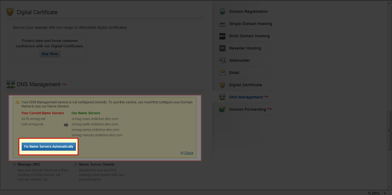ormag.myorderbox.com – Fix NameServer