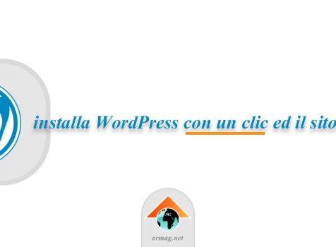 Installa un blog WordPress con Ormag.net e Installatron