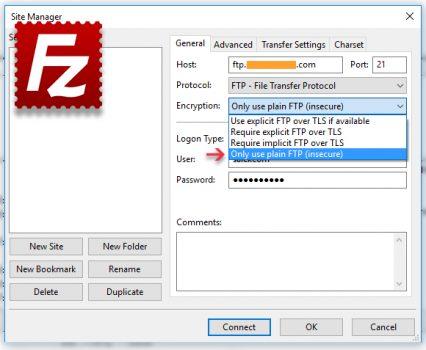 Errore Filezilla: Timeout connessione dopo 20 secondi di inattività