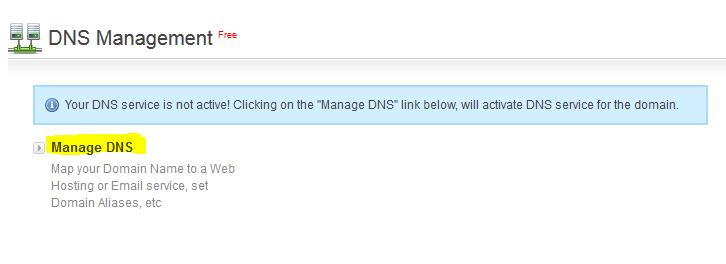 Gestione DNS gratuita attraverso ormag.myorderbox.com/customer