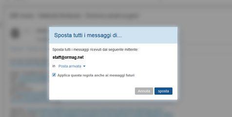 Inserire contatto in whitelist su Libero per fare in modo che le mail ricevute non finiscano in SPAM