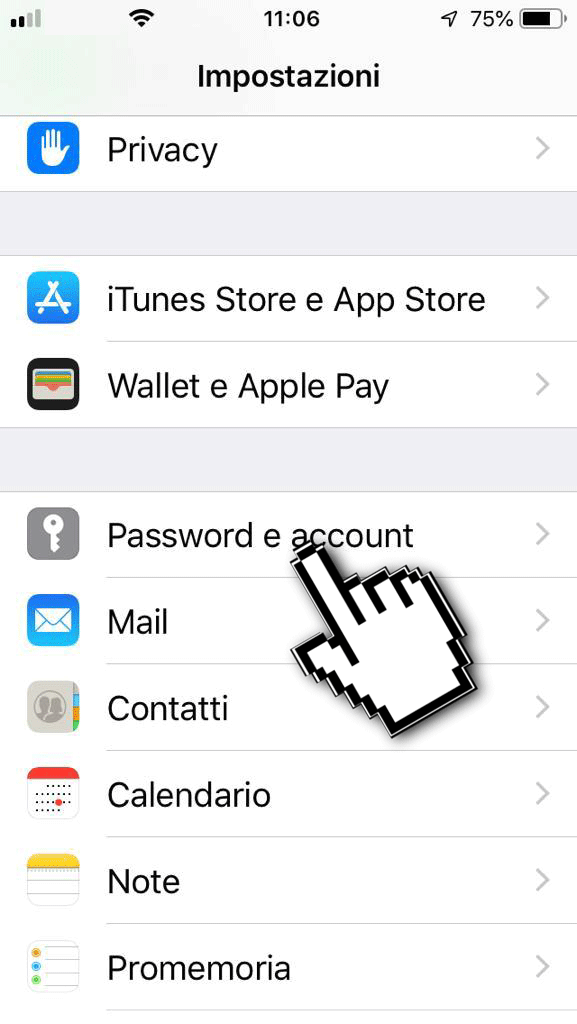 casella di posta su iPhone